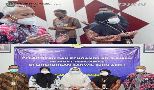 Pelantikan dan Pengambilan Sumpah Pejabat Pengawas di lingkungan Kanwil DJKN Aceh
