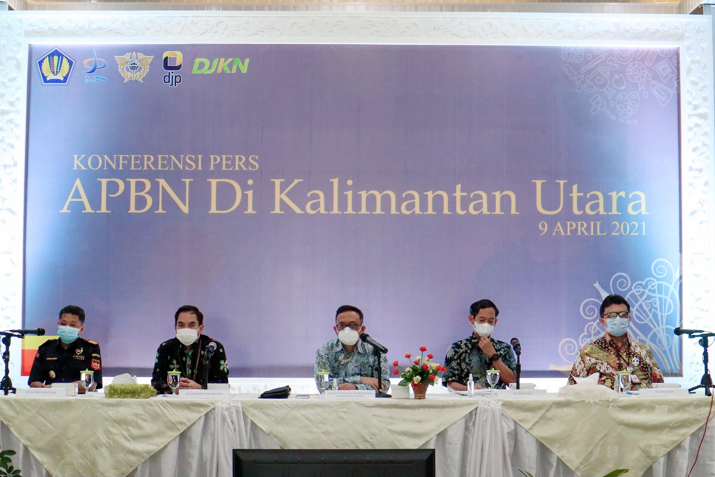 Konferensi Pers APBN di Kaltara, KPKNL Tarakan Siapkan Empat Strategi Peningkatan PNBP yang Sekaligus Mendukung PEN