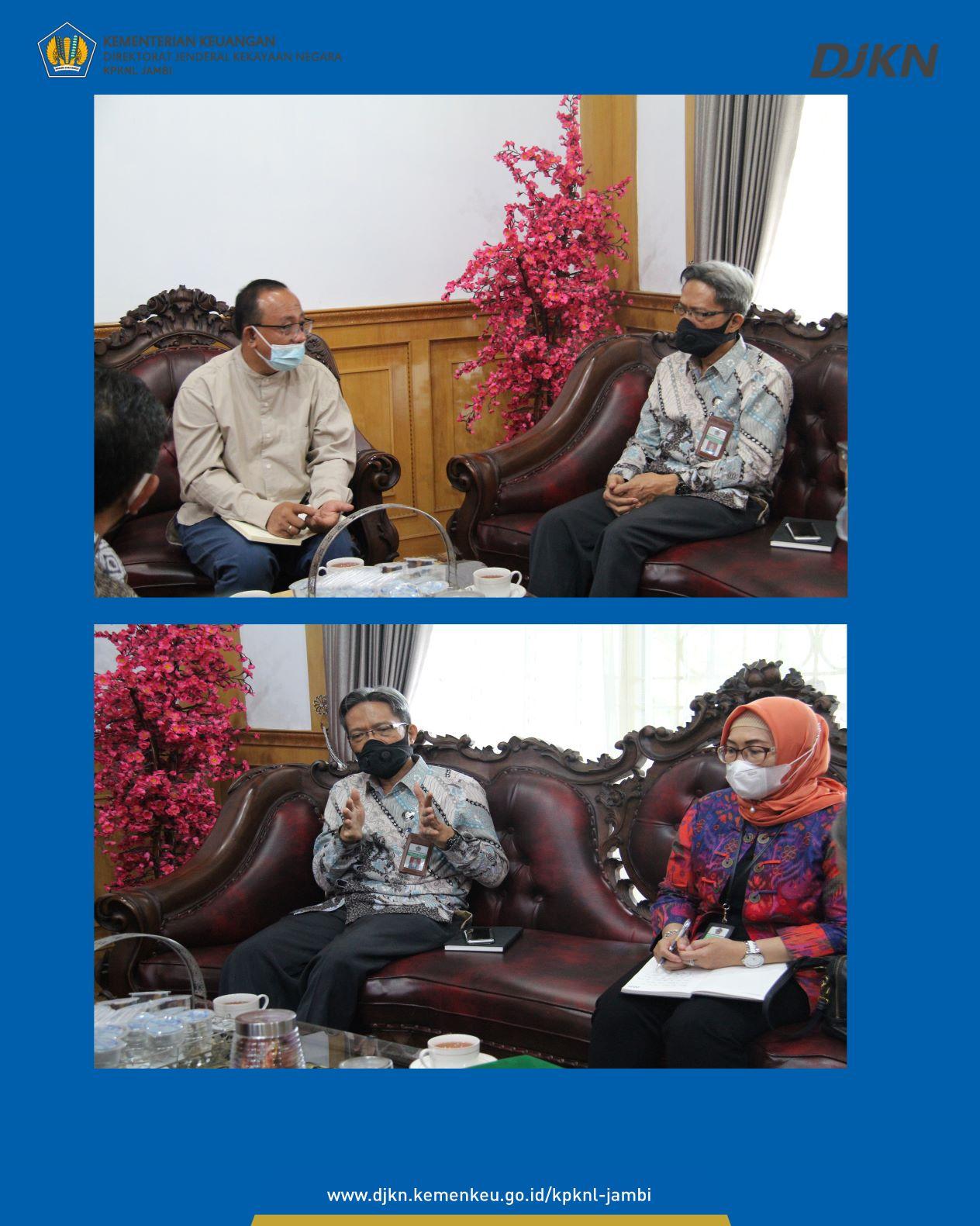 Kunjungan Kerja Kepala Kanwil DJKN SJB di Prov Jambi ke Universitas Jambi (Unja), UIN Sultan Thaha Saifuddin dan Rumkit Bhayangkara Jambi