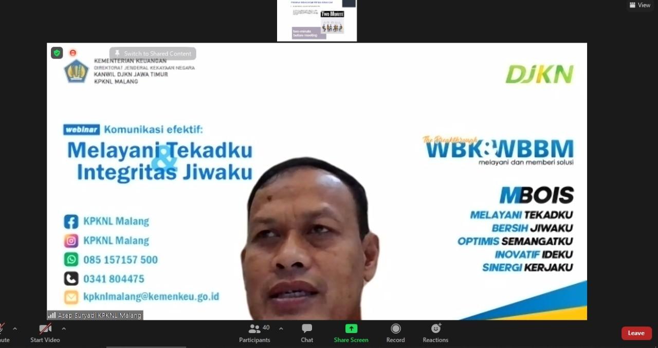 Morning Call,  Budaya Kementerian Keuangan
