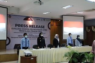 Evaluasi Kinerja APBN Triwulan I Tahun 2021 Melalui Media Meeting