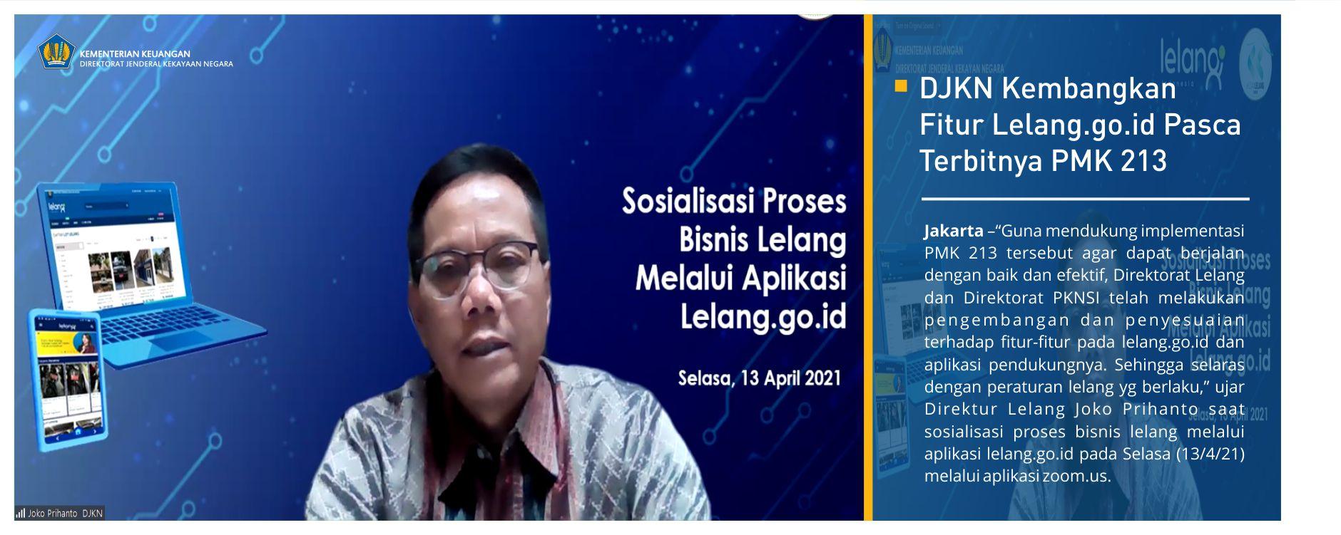 DJKN Kembangkan Fitur Lelang.go.id Pasca Terbitnya PMK 213