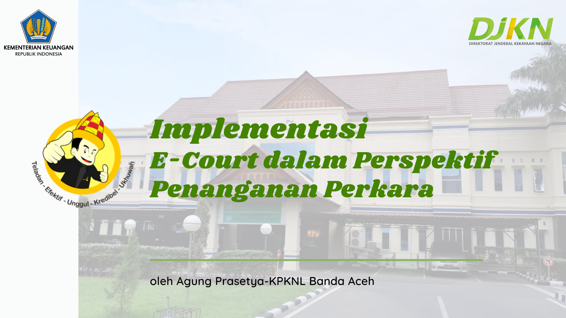 Implementasi E-Court dalam Perspektif Penanganan Perkara