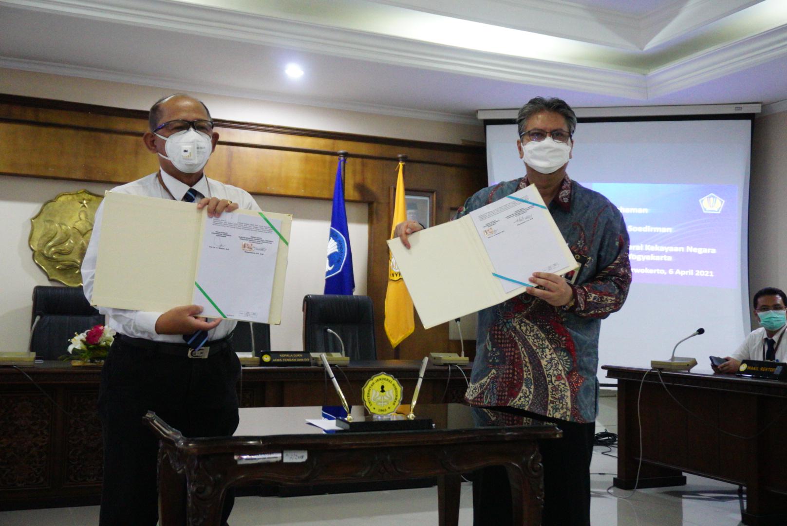Luaskan Kerjasama, Kanwil DJKN Jateng & D.I.Y. Tandatangani MoU dengan Universitas Jenderal Soedirman