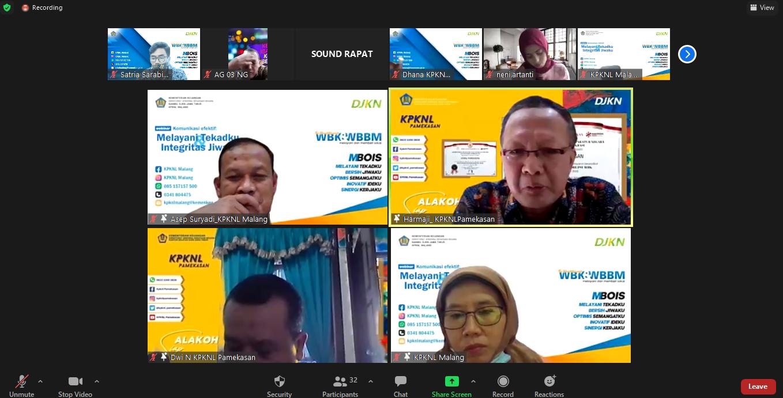 Sharing Session WBK / WBBM bersama KPKNL Pamekasan