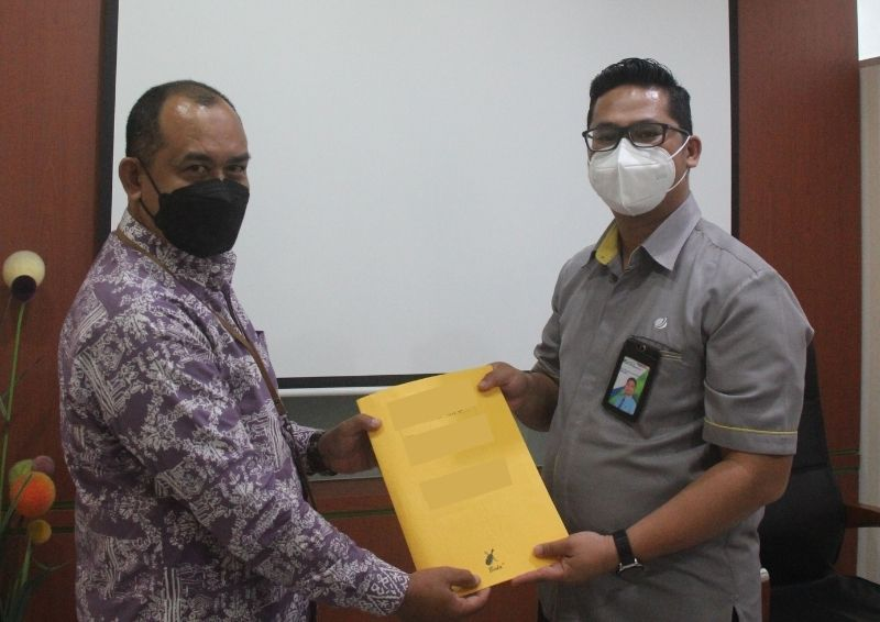Serah Terima Pengembalian BKPN Antara KPKNL Pangkalpinang Kepada BPJS Ketenagakerjaan Cabang Pangkalpinang