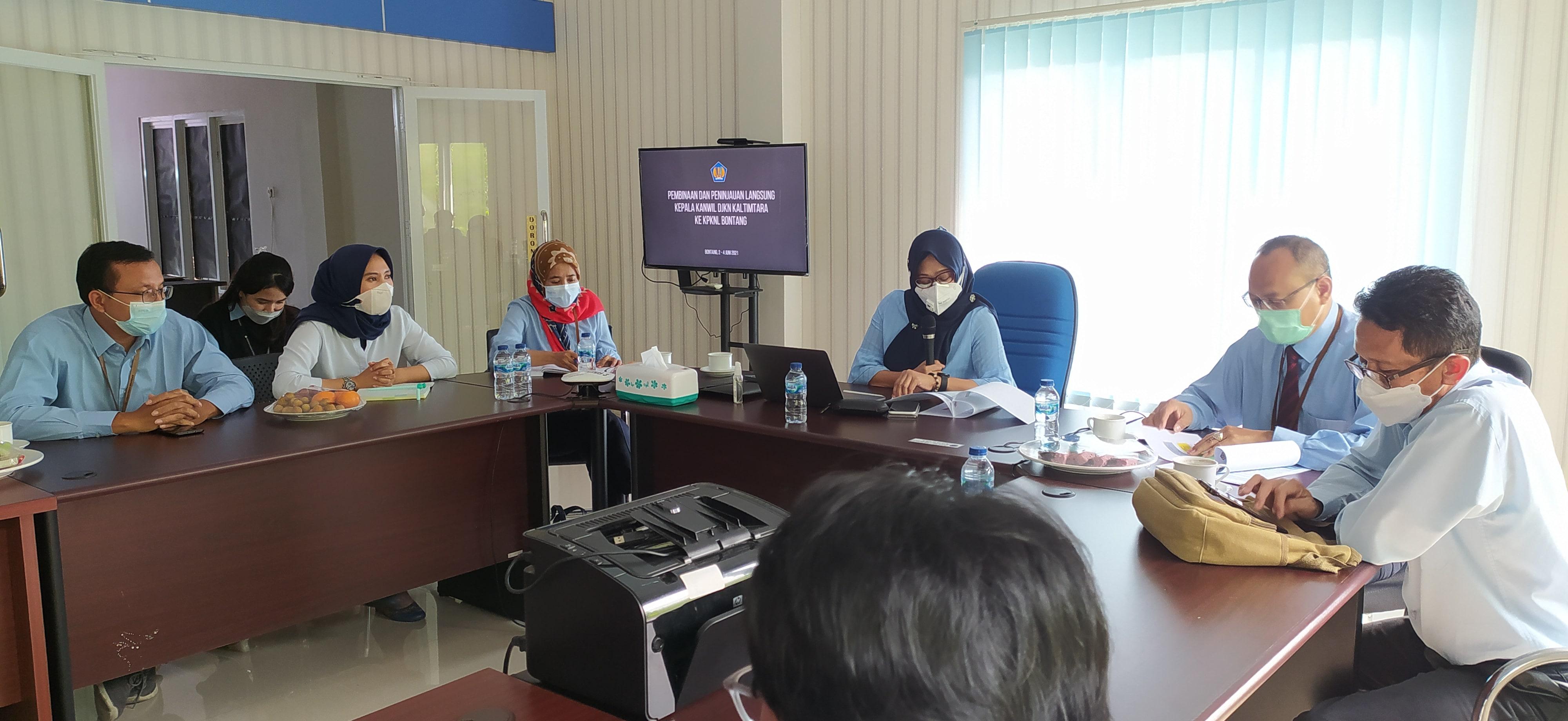 Kunjungan Kepala Kantor Wilayah DJKN Kalimantan Timur dan Utara Ke KPKNL Bontang