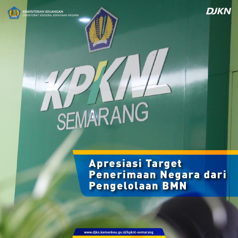 KPKNL Semarang Mendapat Apresiasi Atas Capaian IKU Penerimaan Negara yang Bersumber dari Pengelolaan BMN