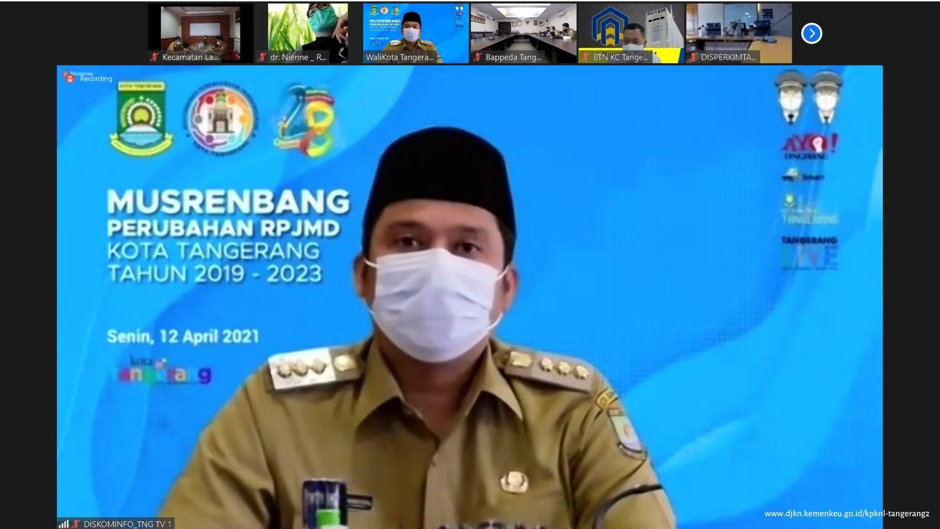 KPKNL Tangerang II bersama Pemerintah Kota Tangerang dalam Musrenbang Perubahan RPJMD Kota Tangerang