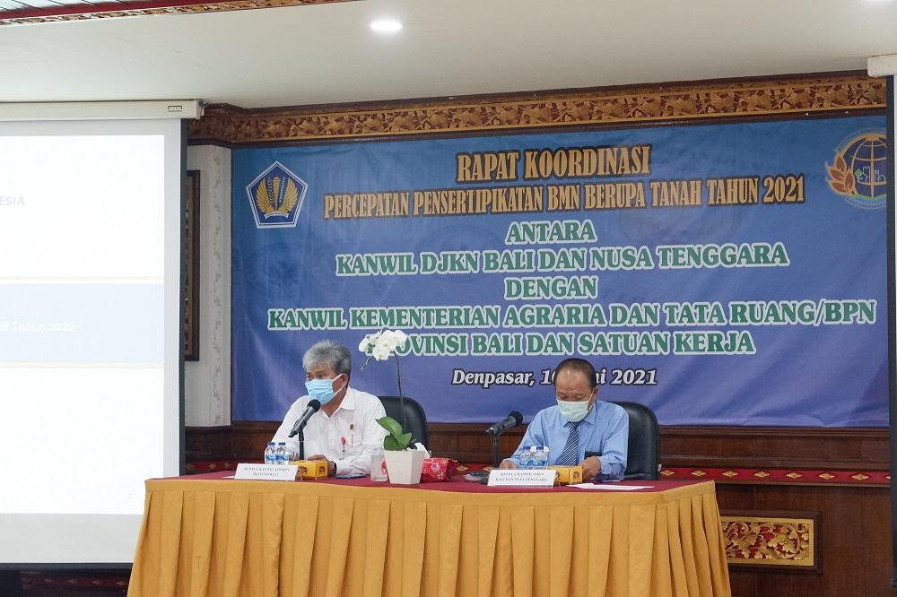Kebut Sertifikasi BMN, Kanwil DJKN Balinusra gelar rapat koordinasi dengan Kantor Pertanahan