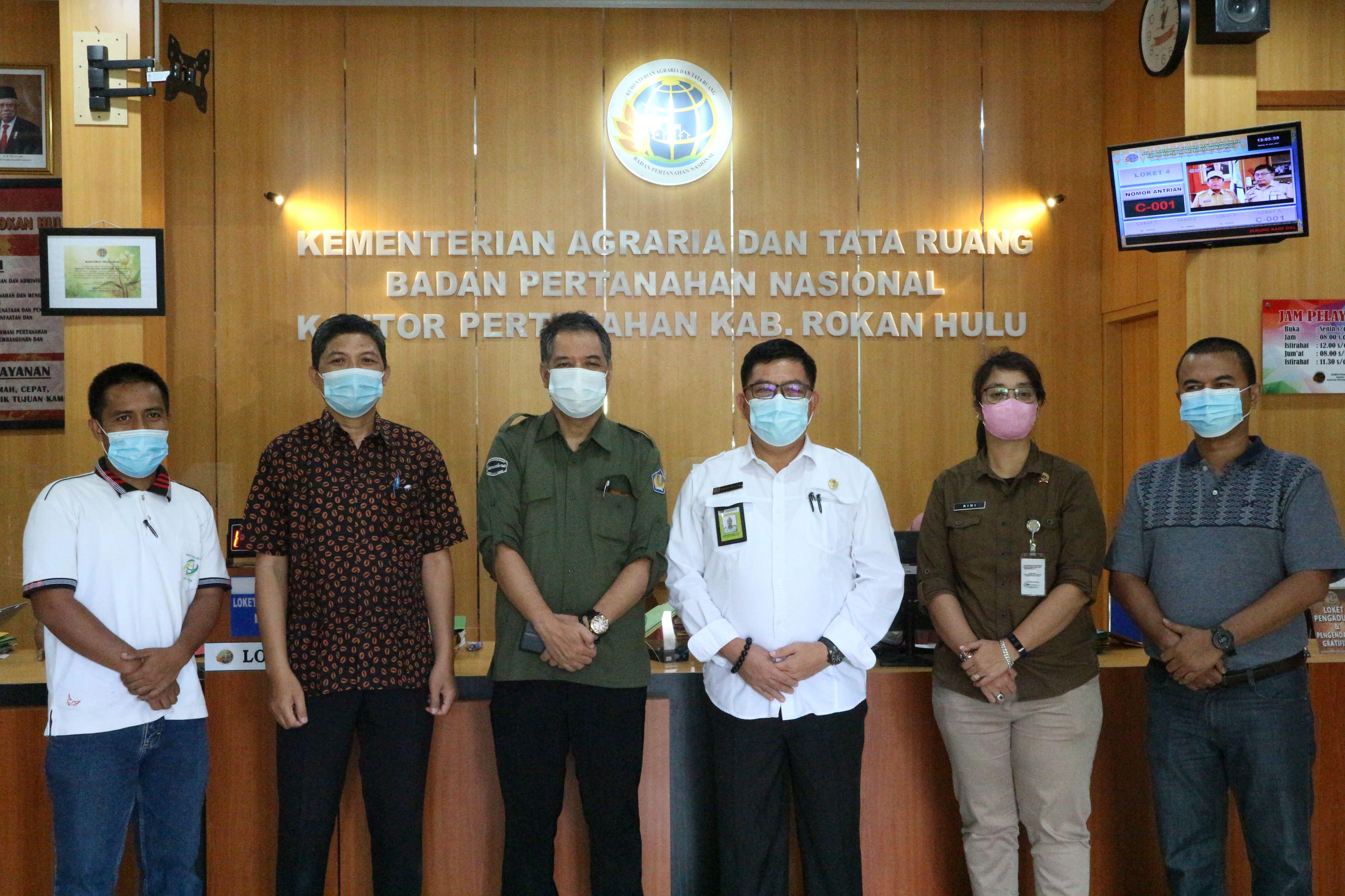 Kunjungan KPKNL Pekanbaru ke Kantah Kabupaten Rokan Hulu Buahkan Tiga Hasil