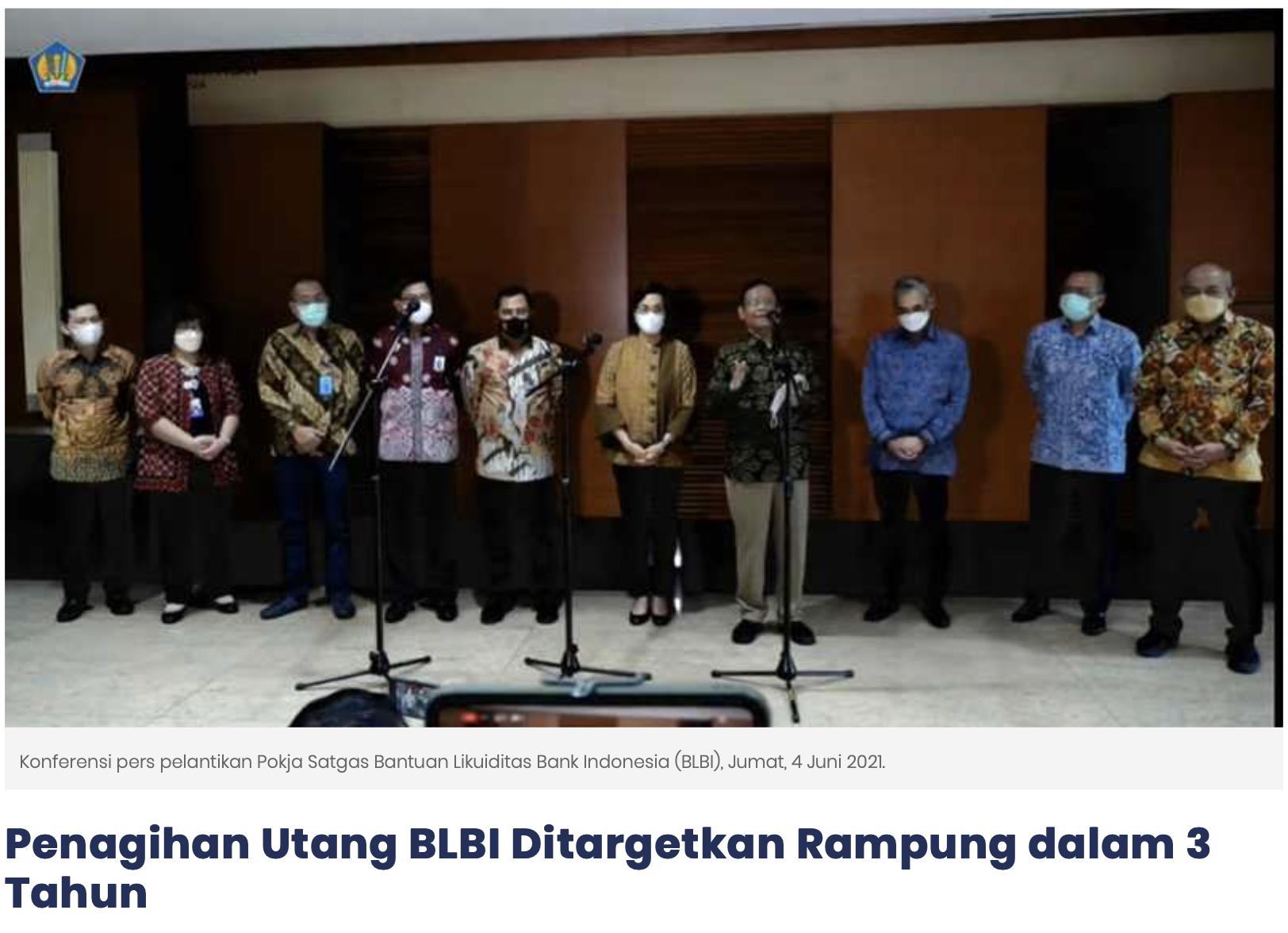 Penagihan Utang BLBI Ditargetkan Rampung dalam 3 Tahun