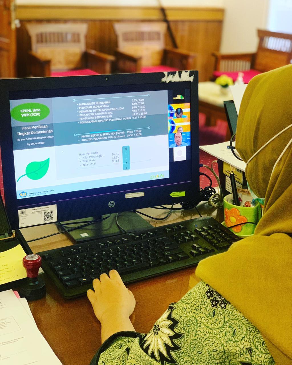 Dukung Pembangunan ZI WBK Kanwil DJKN Balinusra, Kepala KPKNL Bima berbagi Pengalaman Memperoleh Prediket WBK 2020