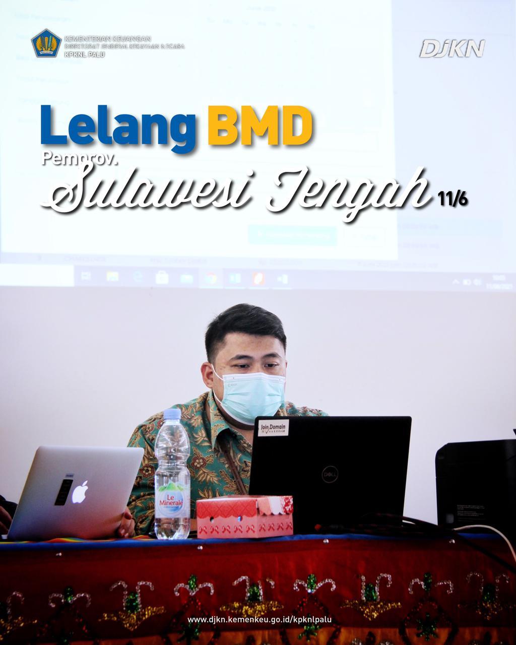 KPKNL Palu Berhasil Setor PNBP dari Lelang Aset Pemprov Sulawesi Tengah