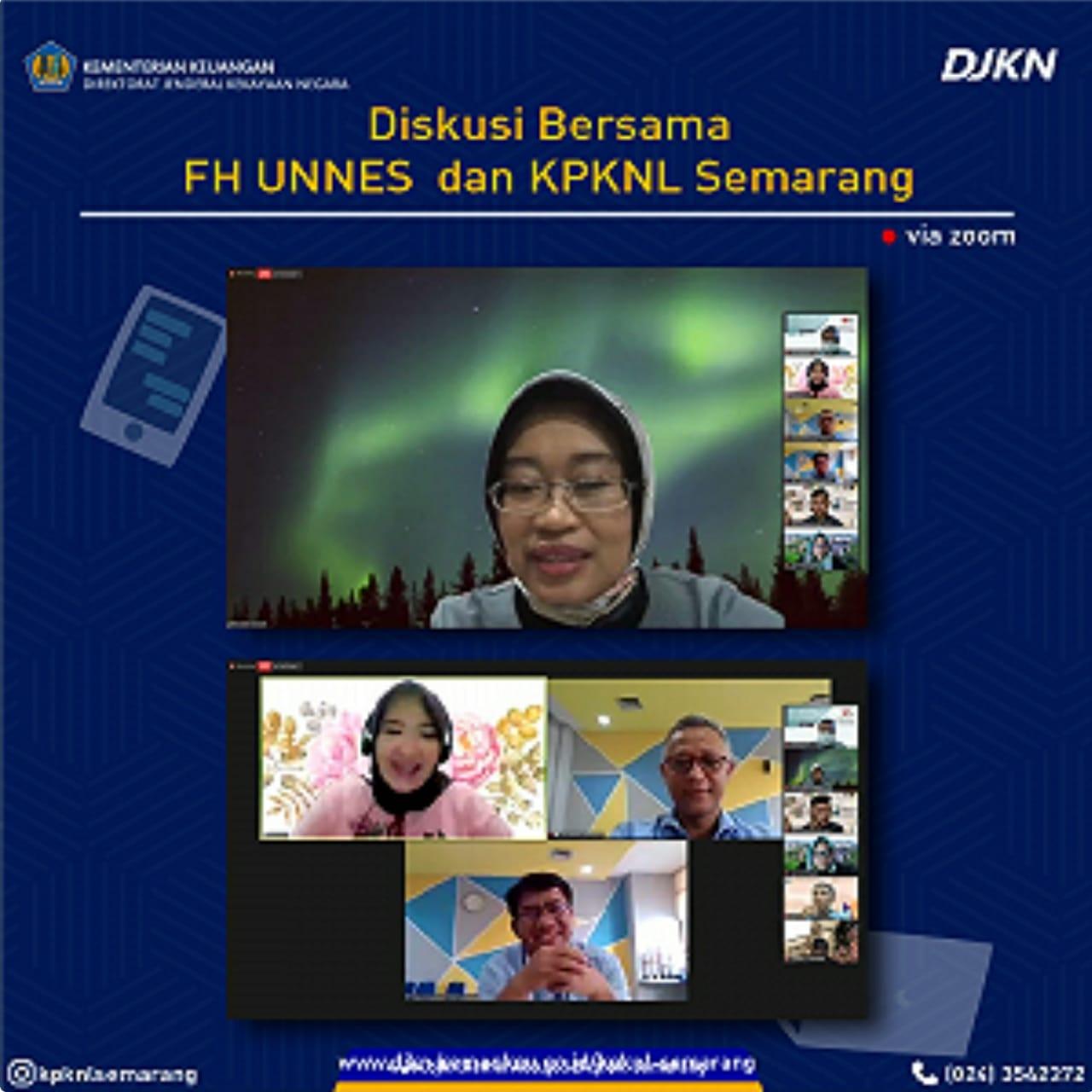 Diskusi Bersama, FH UNNES Kolaborasi dengan KPKNL Semarang Bahas Lelang Hak Tanggungan