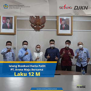 Lelang Eksekusi Harta Pailit PT. Arena Maju Bersama Laku Rp12 M