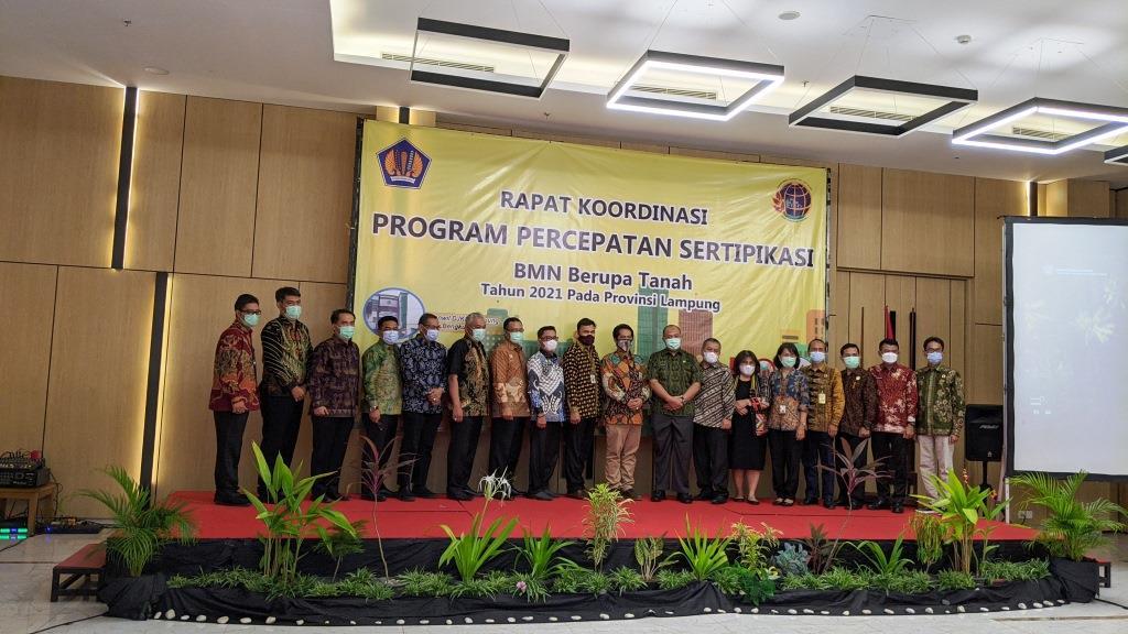 Rapat Koordinasi Sertipikasi Tahun 2021 dan Penyerahan Sertipikat kepada Satker