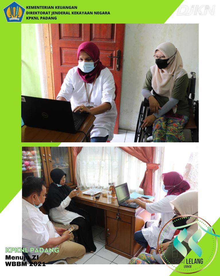 Pelaksanaan Kedai Lelang UMKM KPKNL Padang