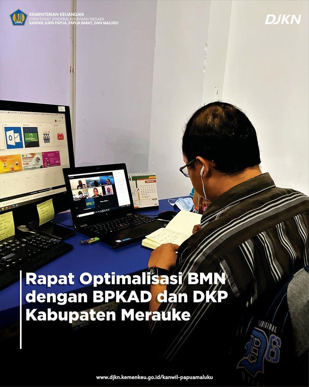 Rapat Optimalisasi BMN bersama BPKAD dan DKP Kabupaten Merauke