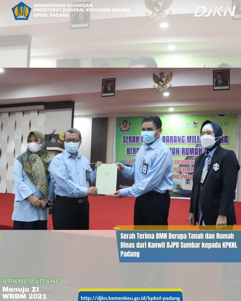KPKNL Padang siap mengoptimalisasi BMN yang diserahterimakan dari Kanwil DJPB Provinsi Sumatera Barat berupa tanah dan 10 unit rumah dinas