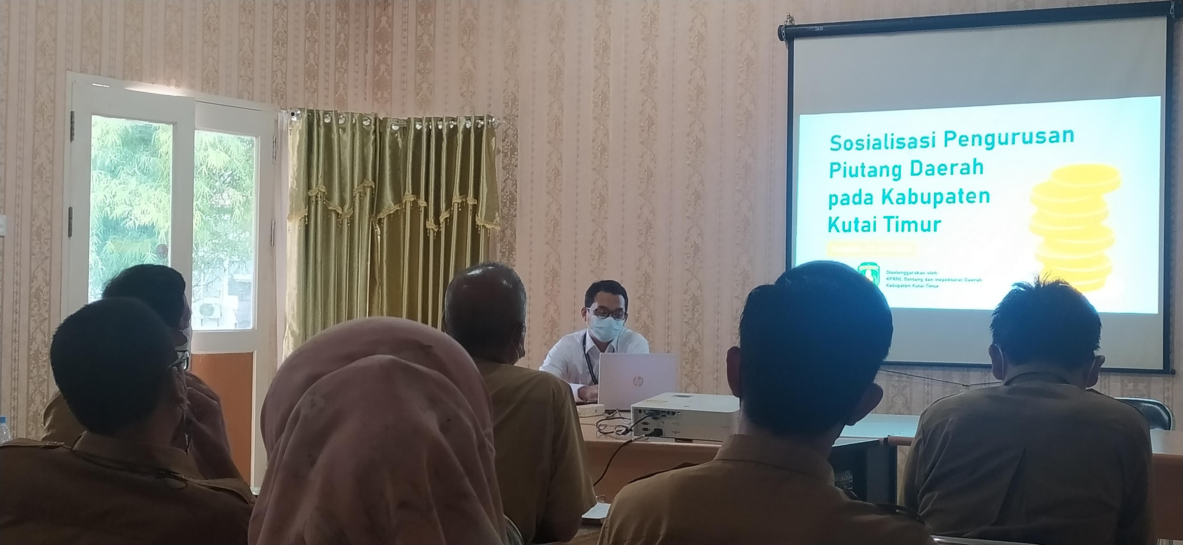 KPKNL Bontang Sosialisasikan Pengurusan Piutang Daerah di Lingkungan Pemkab Kutai Timur