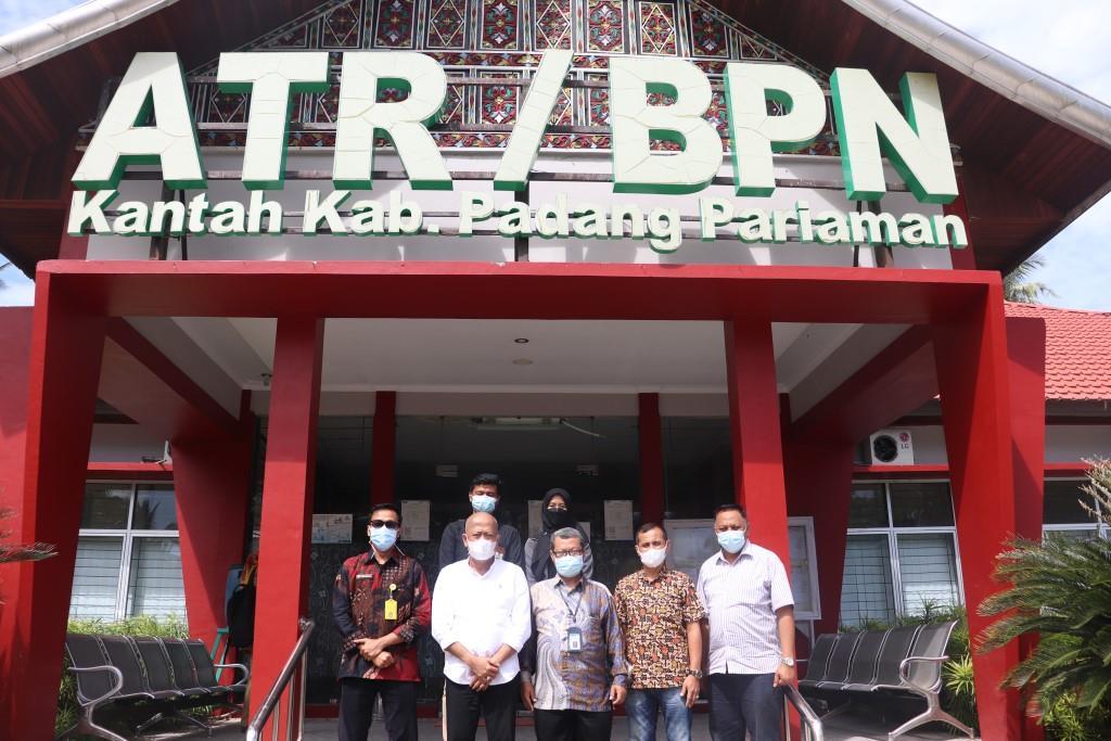 Giat Percepatan Sertifikasi BMN Berupa Tanah  TA 2021, KPKNL Padang melakukan Koordinasi bersama Kantor Pertanahan Kabupaten Padang Pariaman