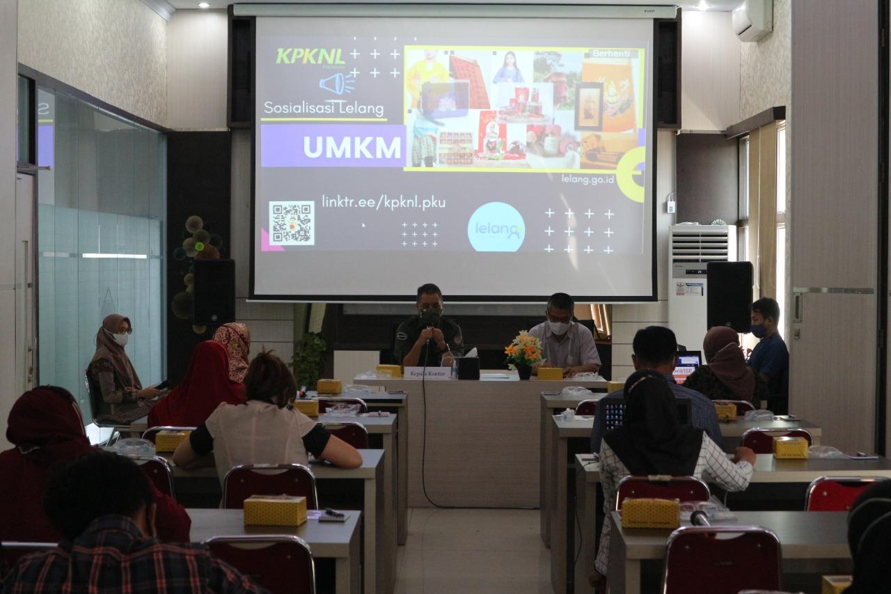 Sukseskan Kedai Lelang UMKM, KPKNL Pekanbaru Gelar Sosialisasi Lelang