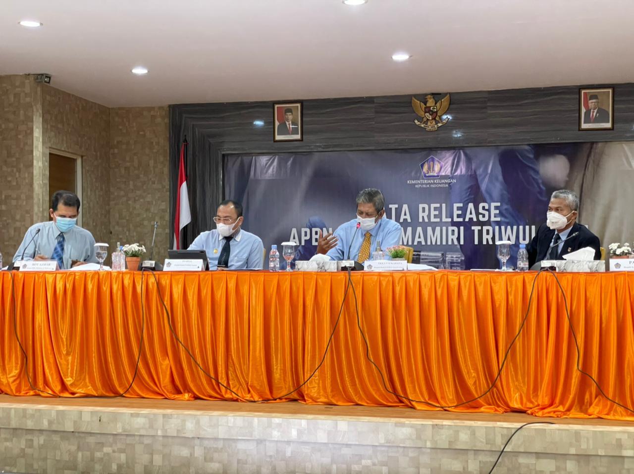 "Press Conference ""APBN Anging Mammiri"", Kemenkeu Sulsel Publikasikan Kinerja APBN Triwulan II /2021"