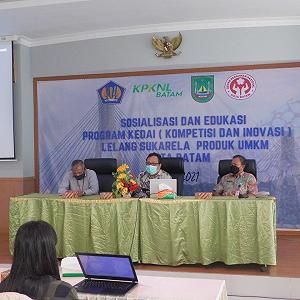 Edukasi dan Bimbingan Teknis Program KEDAI (Kompetisi dan Inovasi) Lelang Sukarela Produk UMKM Kota Batam