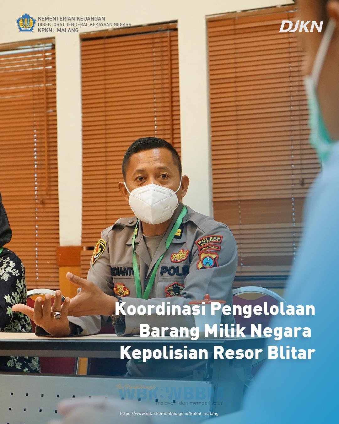 Koordinasi Pengelolaan Barang Milik Negara Kepolisian Resor Blitar