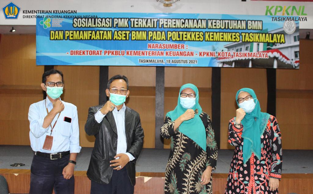 KPKNL Tasikmalaya menjadi narasumber Sosialisasi peningkatan kemampuan pengelolaan BMN pada BLU di Poltekkes Tasikmalaya