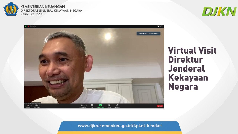Melalui Virtual Visit, Dirjen KN Ingin Ketahui Situasi dan Kondisi KPKNL Kendari