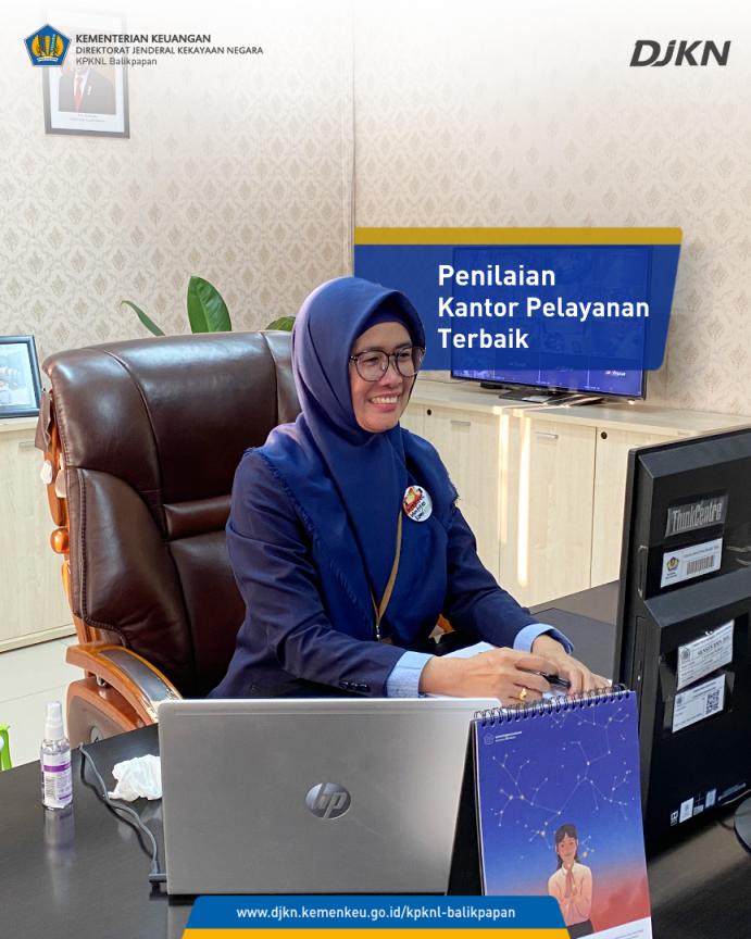 Buktikan Performa Pelayanan, KPKNL Balikpapan Mengikuti Kegiatan Penilaian In-depth Interview Kantor Pelayanan Terbaik Tahun 2021