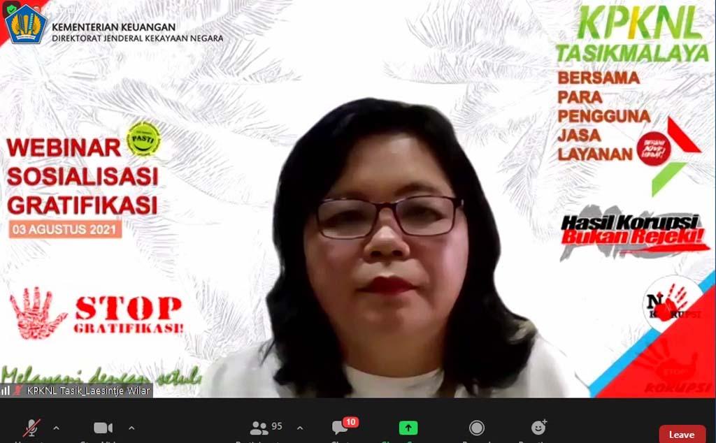 KPKNL Tasikmalaya bersama para Pengguna Jasa Layanan selenggarakan Webinar terkait Gratifikasi