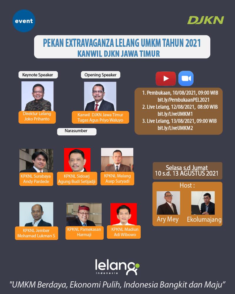 """Pembukaan Pekan Ekstravaganza Lelang : UMKM Berdaya, Ekonomi Pulih, Indonesia Bangkit dan Maju"""""""