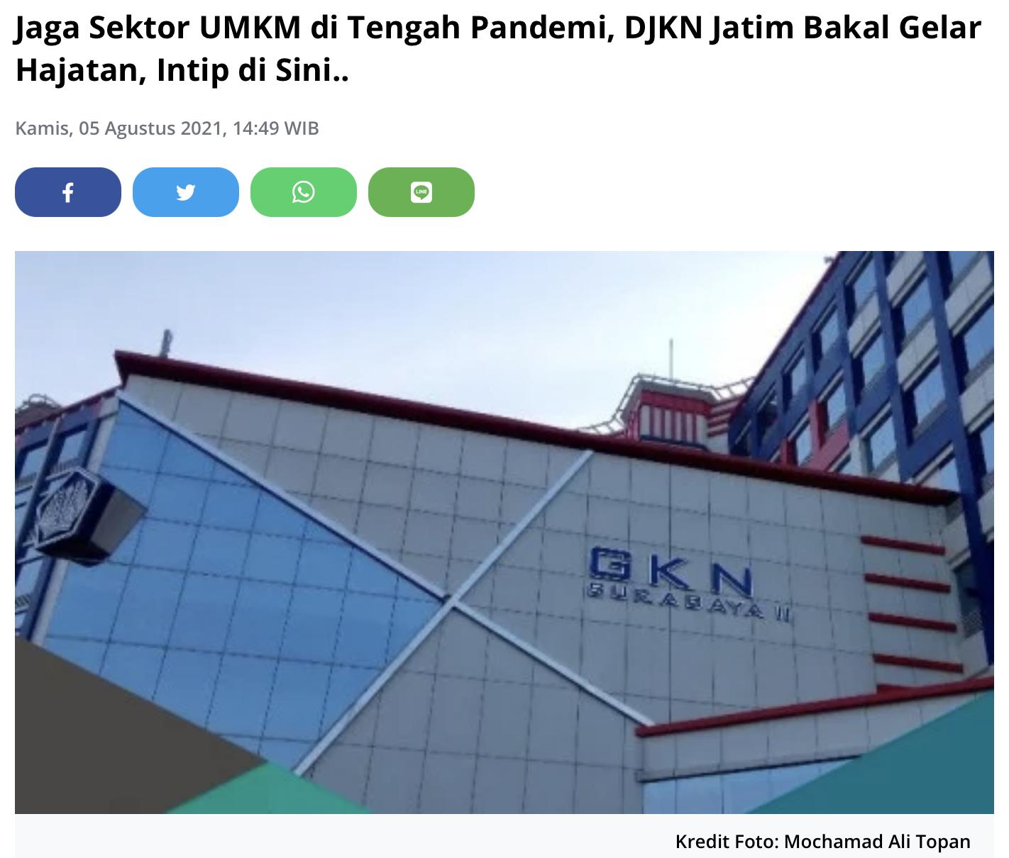 Jaga Sektor UMKM di Tengah Pandemi, DJKN Jatim Bakal Gelar Hajatan, Intip di Sini..