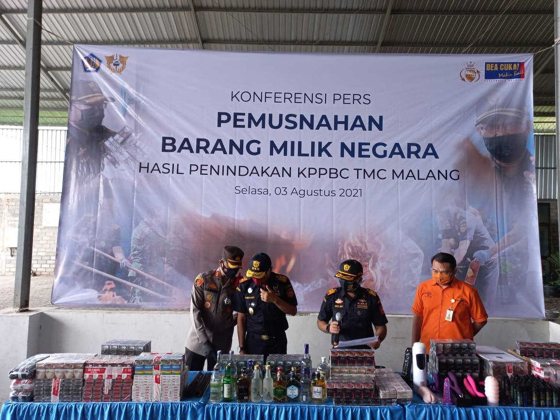 KPKNL Malang  Sinergi dengan KPPBC Malang Mencegah Kerugian Negara