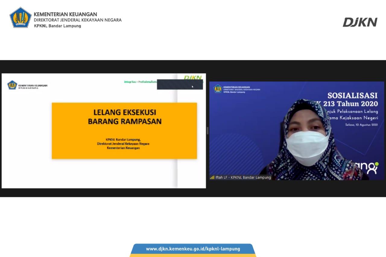 KPKNL Bandar Lampung Sosialisasikan PMK 213 Tahun 2020 kepada Kejaksaan
