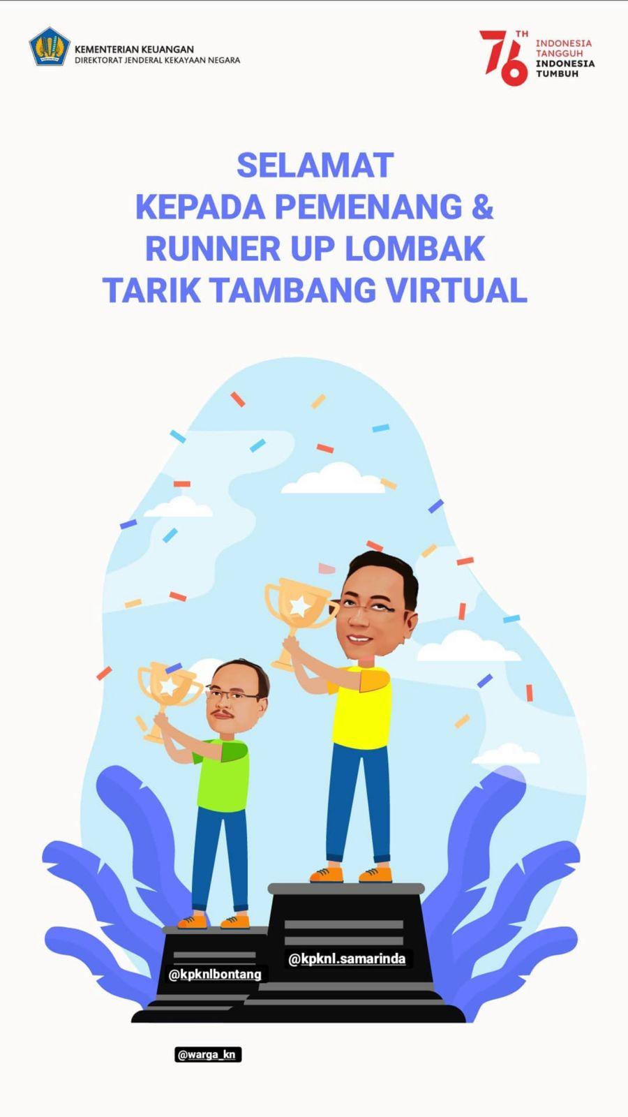 KPKNL Samarinda Meriahkan HUT RI KE-76