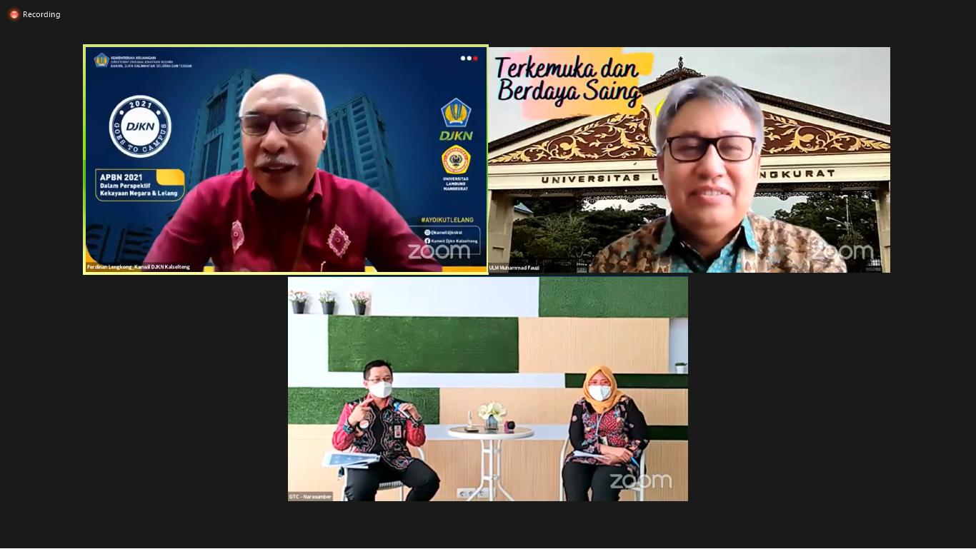 DJKN Goes To Universitas Lambung Mangkurat: APBN 2021 dalam Perspektif Kekayaan Negara dan Lelang