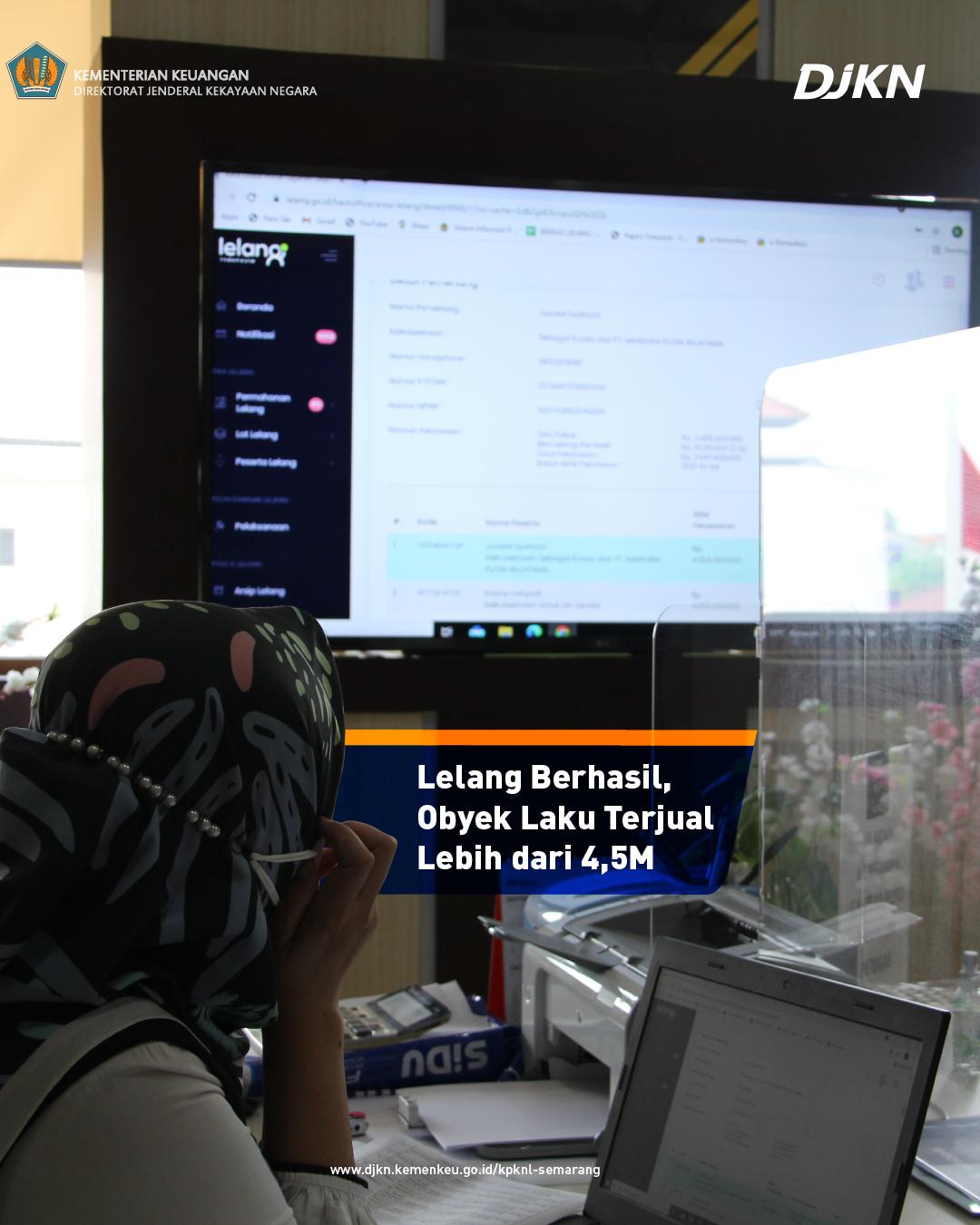 Laku Fantastis, KPKNL Semarang Berhasil Jual Lelang Dengan Nilai Lebih dari Rp4,5 Miliar
