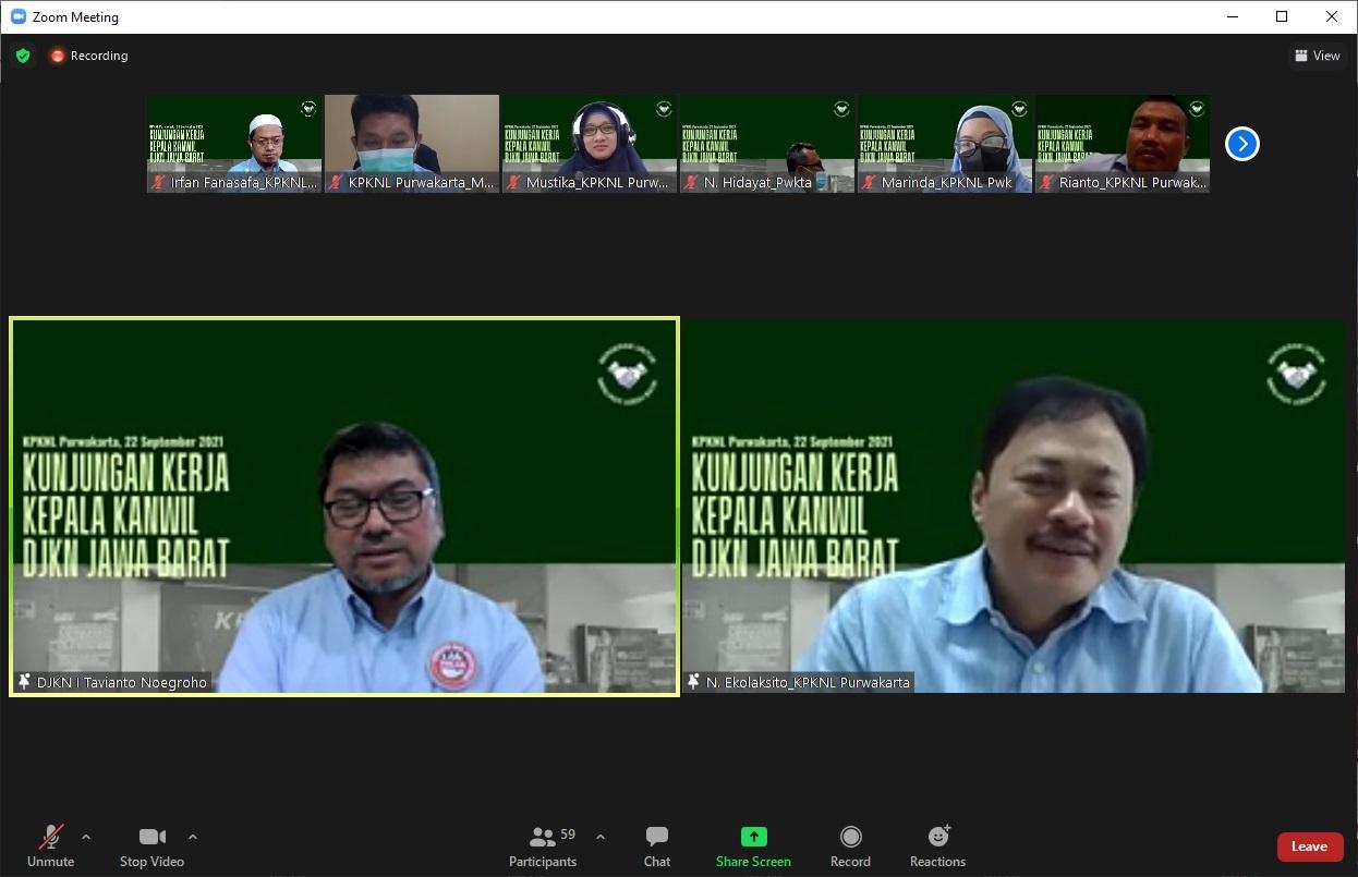 """Pesan KaKanwil DJKN Jawa Barat : """"Tingkatkan Literasi Ditigal, Berfikirlah Bukan Semata Tusi Tapi Dampak Ekonomi Yang Lebih Luas"""""""