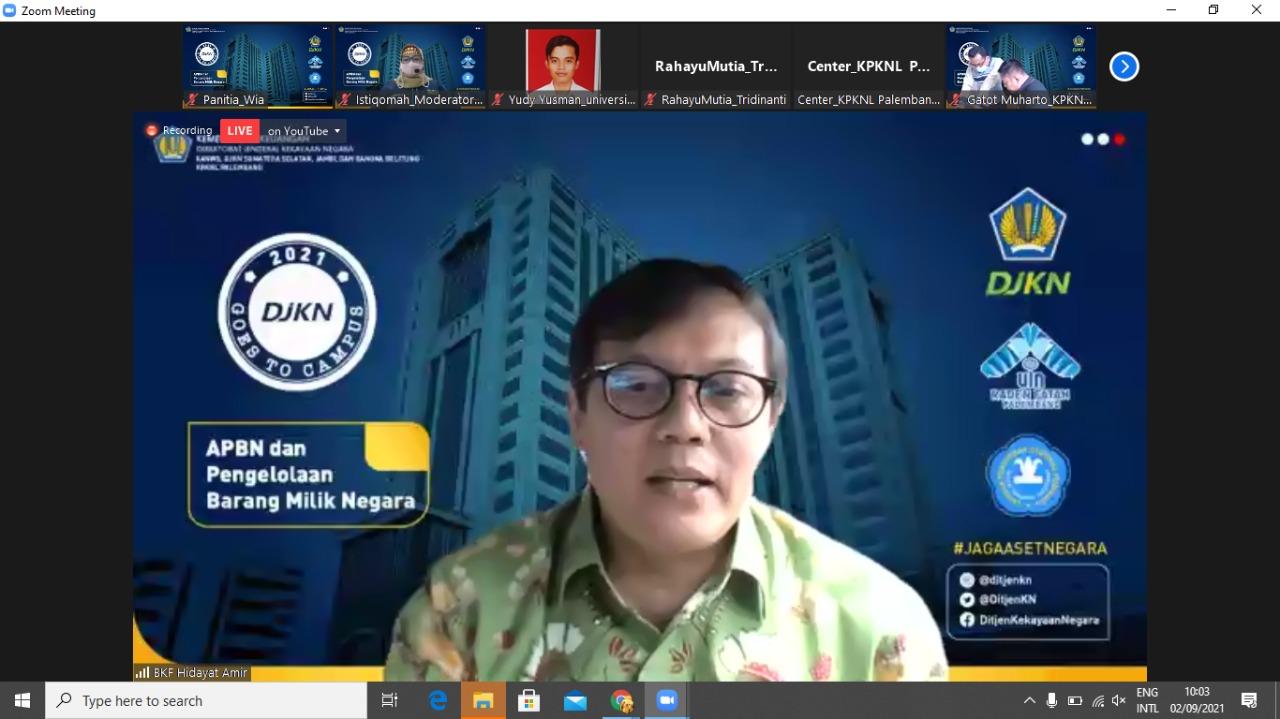 Jelaskan APBN dan Kekayaan Negara, KPKNL Palembang Goes To Campus UIN Raden Fatah dan Univ. Tridinanti Palembang