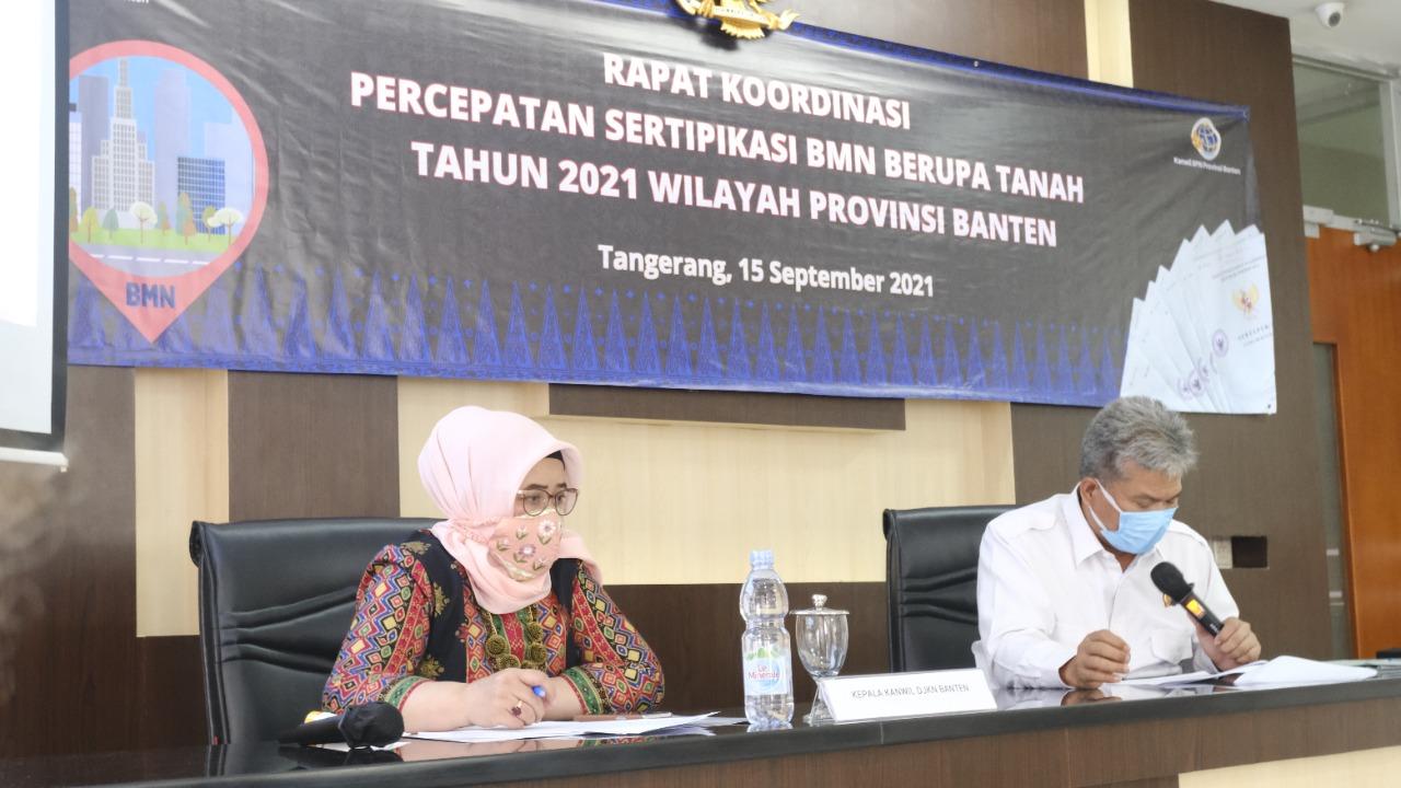 152 Sertipikat Tanah BMN Telah Terbit di Propinsi Banten Tahun 2021