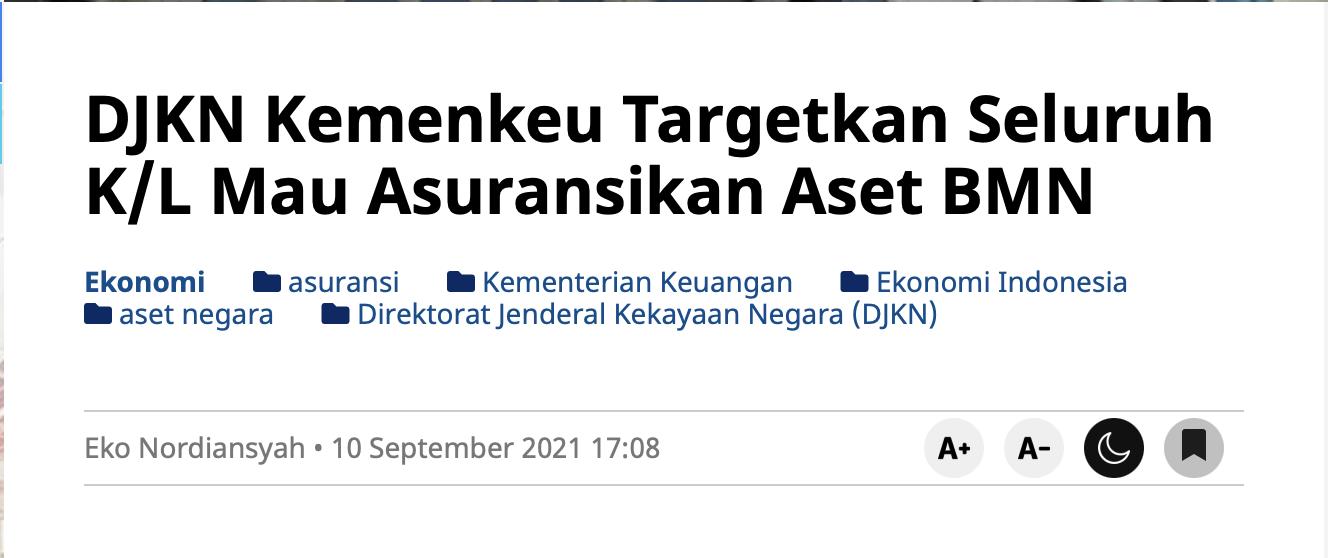 DJKN Kemenkeu Targetkan Seluruh K/L Mau Asuransikan Aset BMN