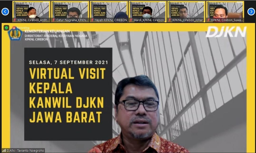 Virtual Visit Kepala Kanwil DJKN Jawa Barat ke KPKNL Cirebon