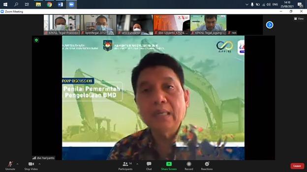 KPKNL Tegal Lakukan Monitoring dan Evaluasi Untuk Mengukur Kesiapan Keikutsertaan Lomba Kearsipan DJKN 2021