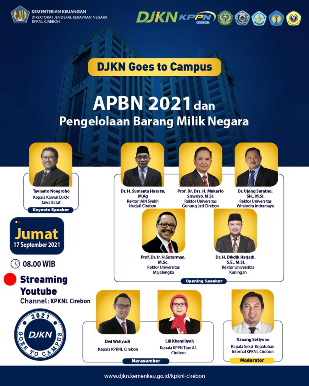 KPKNL-KPPN Cirebon Berikan Edukasi APBN 2021 dan Pengelolaan BMN pada Mahasiswa Perguruan Tinggi di Ciayumajakuning