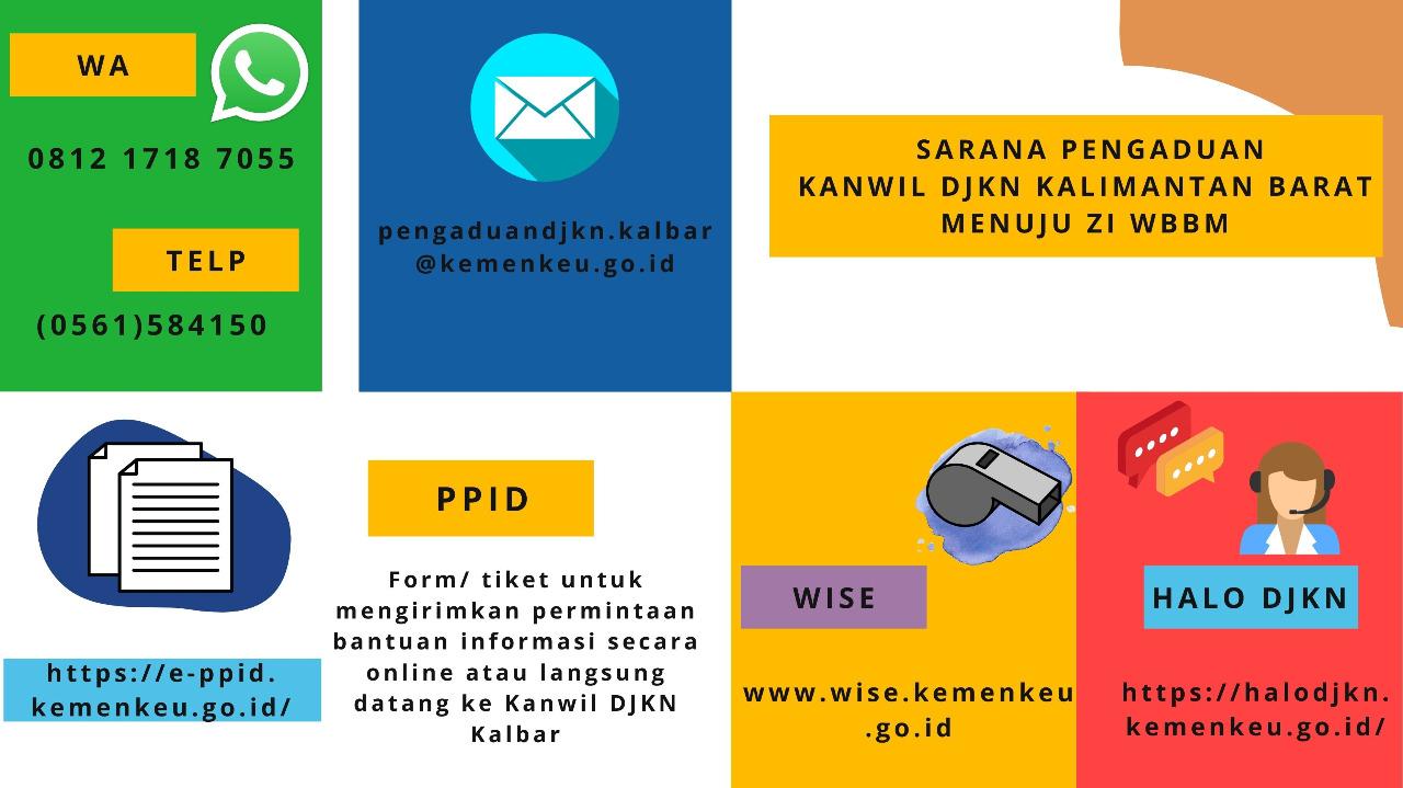 Saarana Pengaduan Kanwil DJKN Kalimantan Barat