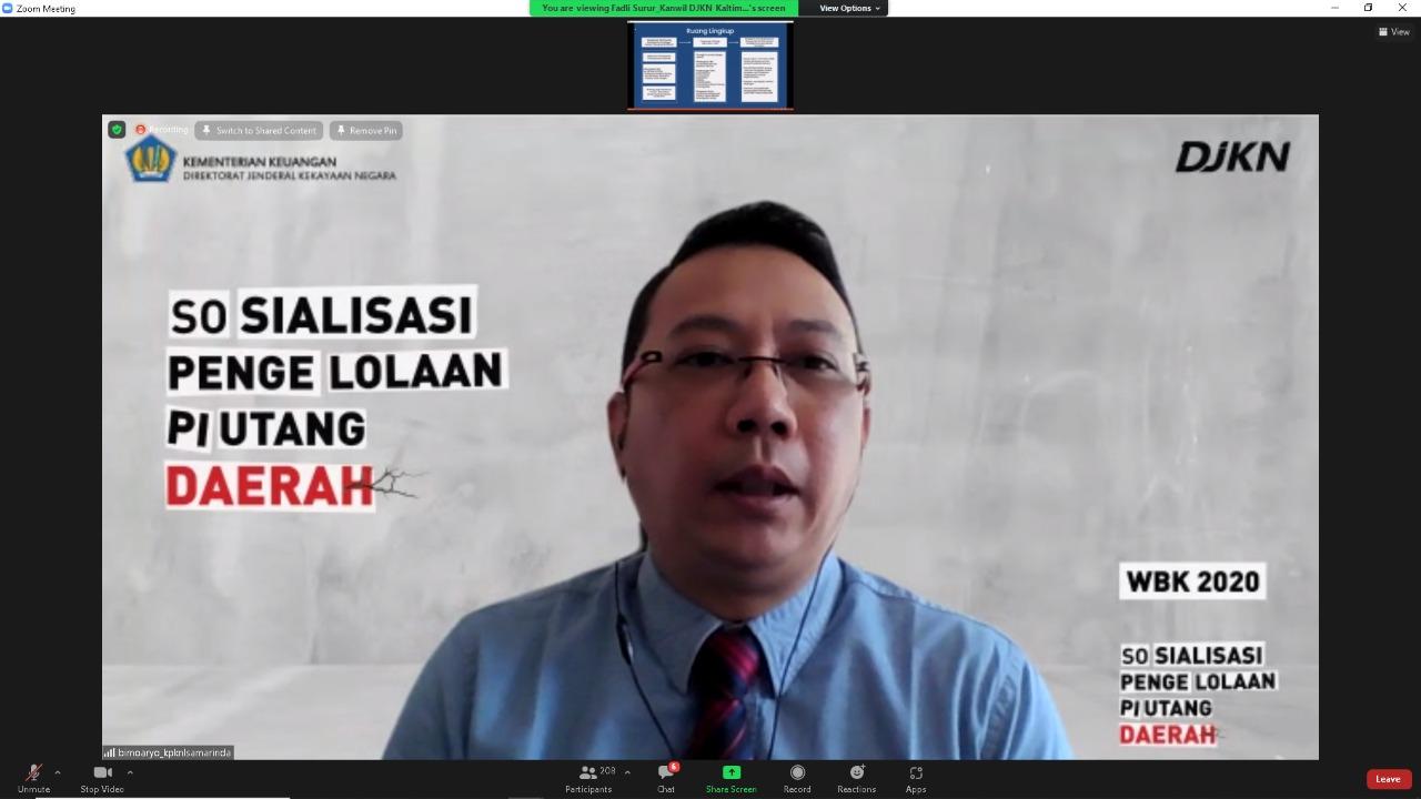 Kepala KPKNL Samarinda Terangkan Tata Cara Pengurusan Piutang Daerah di Kaltimtara